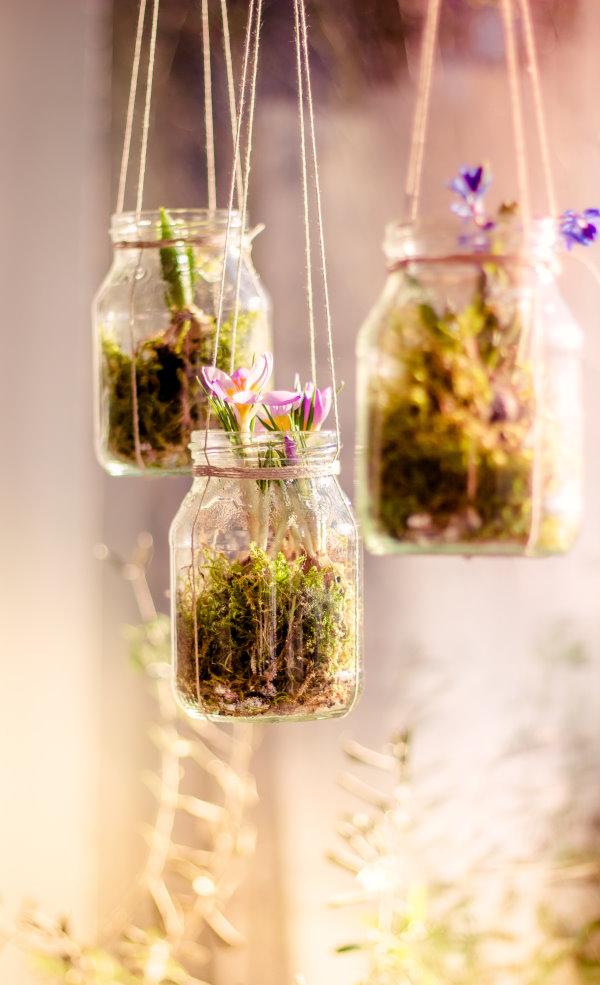 Upcycling: DIY Fensterdeko im Frühling