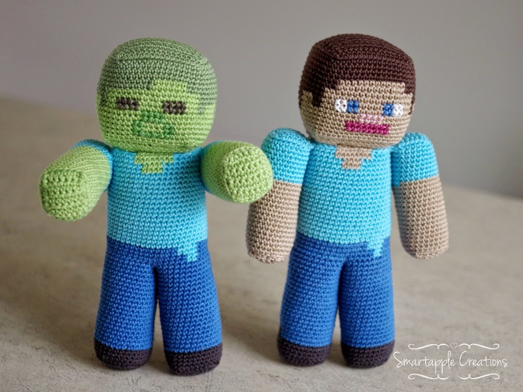 Free Crochet Patterns For Minecraft : Smartapple Creations - amigurumi and crochet: Minecraft ...