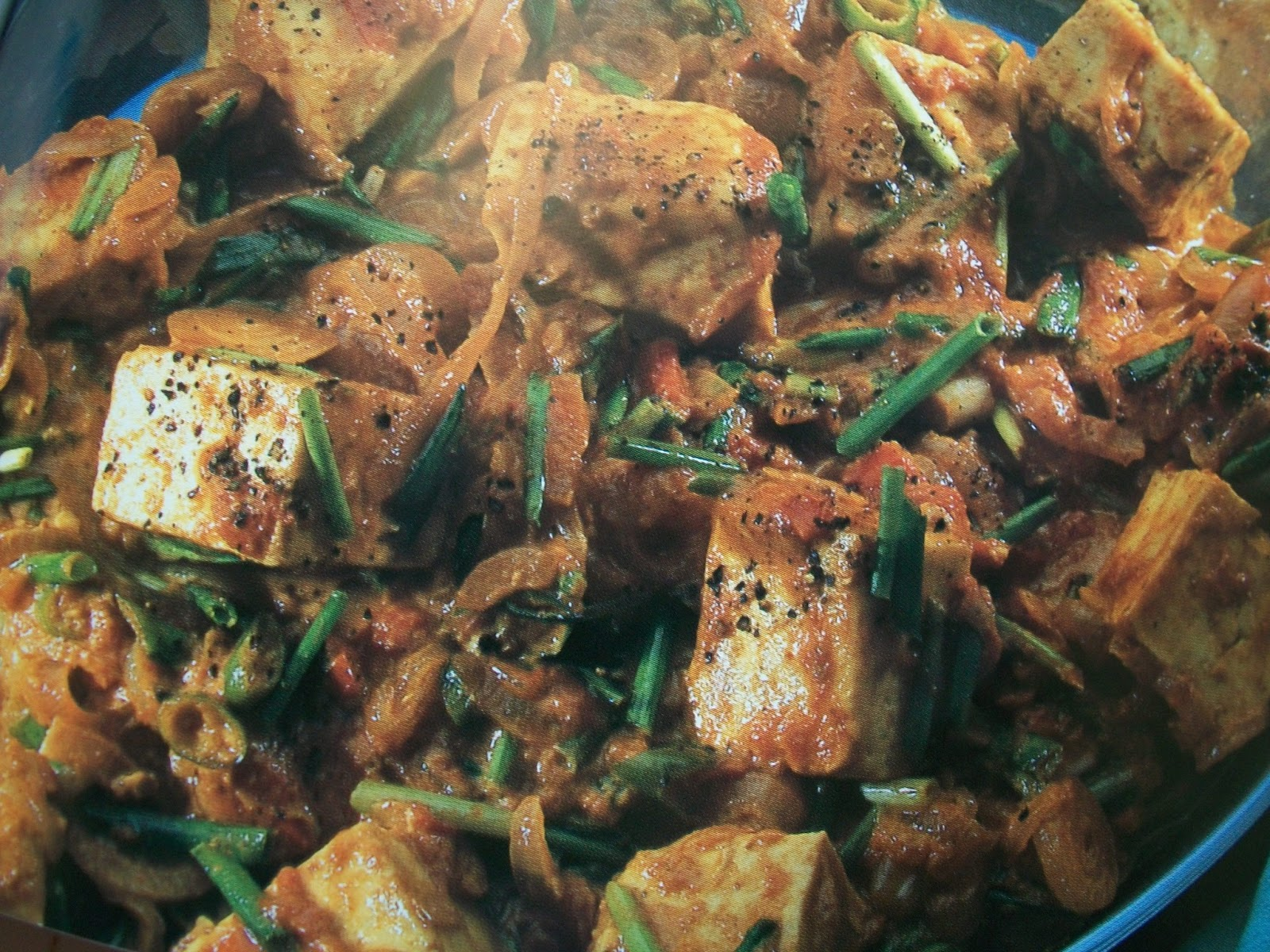 Paneer with Spring Onion
