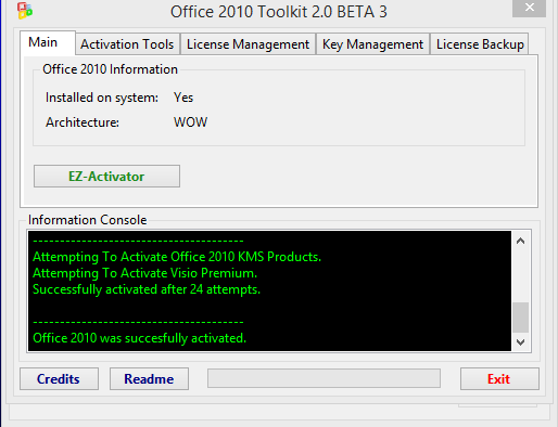manually activate visio 2013