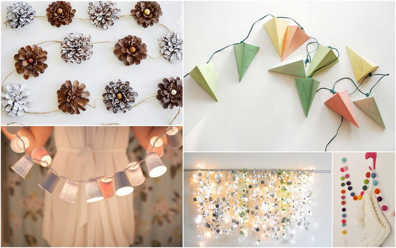 kanelstrand weekend diy creative christmas garlands