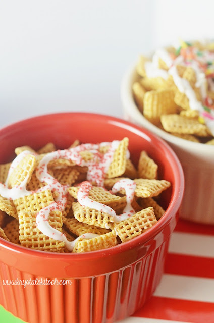 Sweet and Salty Chex Mix Treats, Birthday Cake Chex Mix