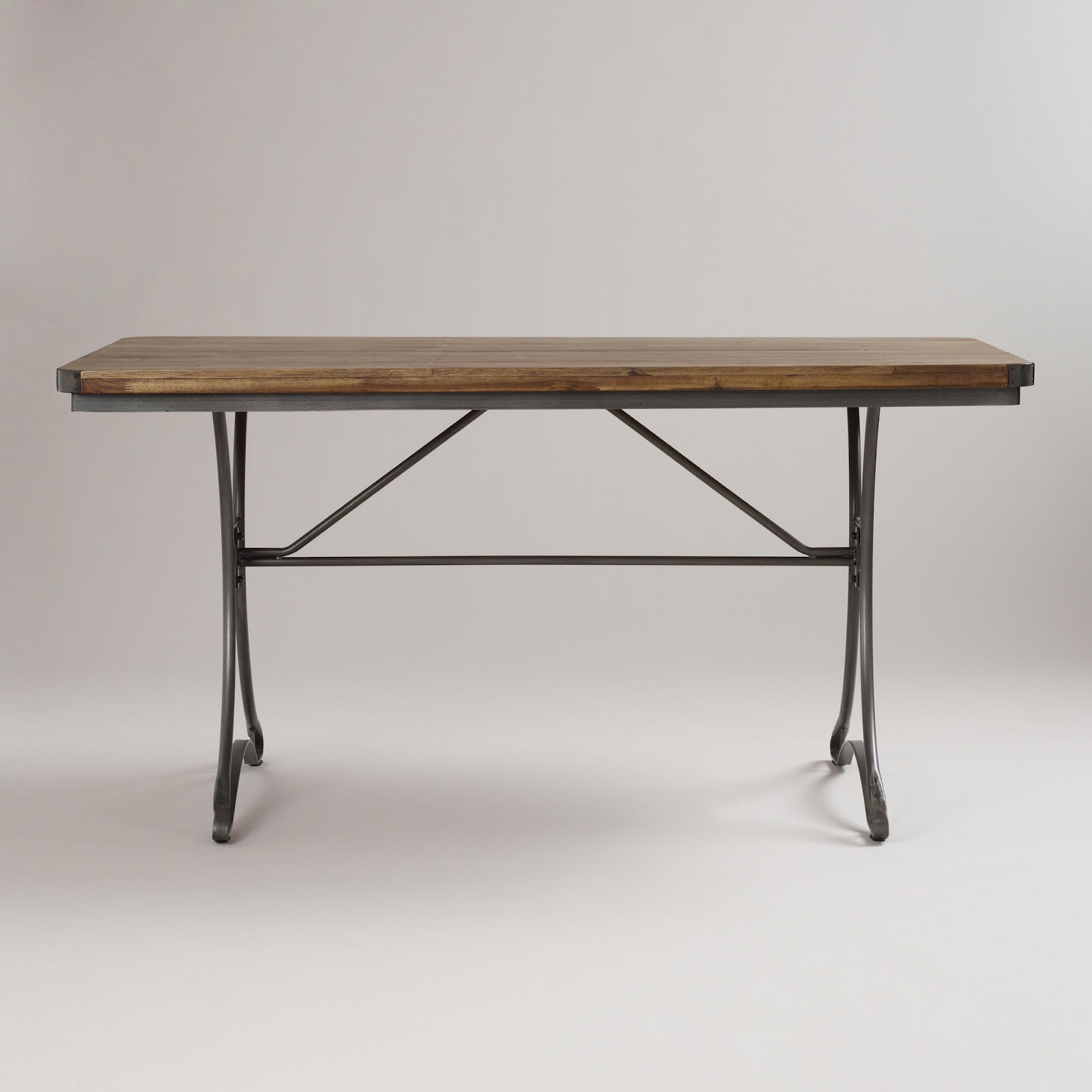 Jackson Rectangular Table With Metal Base: Birds Of A Feather: 08/01/2012