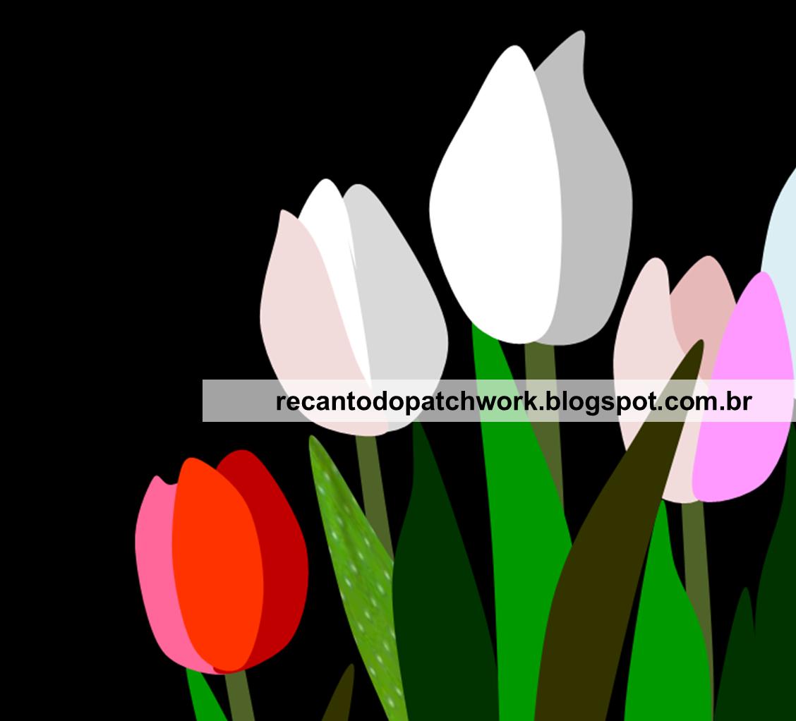 MOLDES PARA PATCHWORK: Imagem de tulipa para artesanato e trabalhos ...
