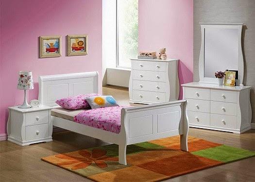 غرف نوم اطفال باللون الابيض   روح الخليج