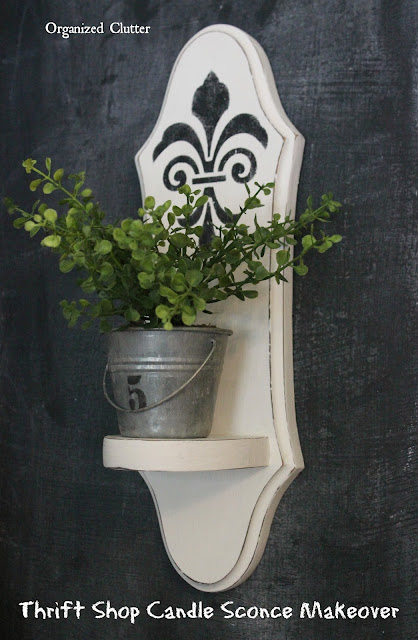 Upcycled Thrift Shop Candle Sconce