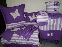 contoh home set kerajinan tenun atbm warna ungu