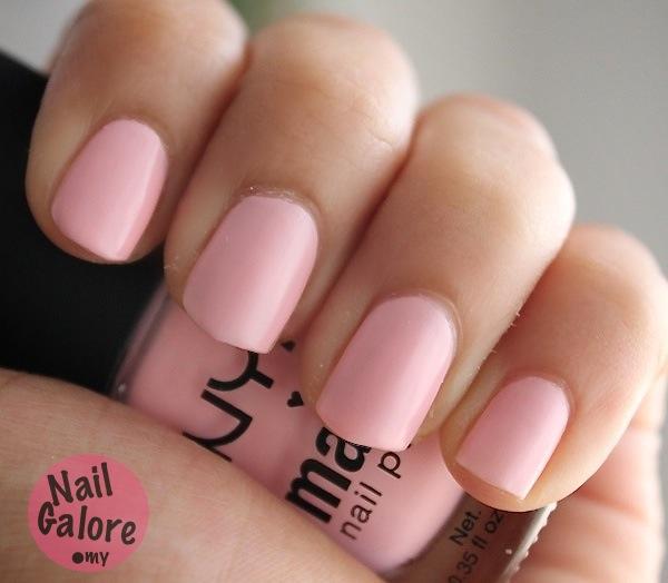 Baby Pink Nail Polish India: Macntoch World: NYX Matte Nail Polish