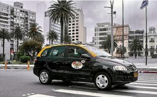 taxi montevideo amarillo y negro