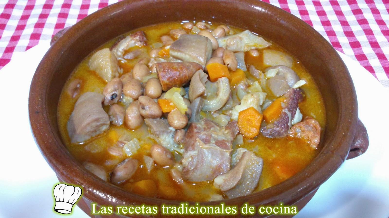 Receta de alubias pintas con oreja y chorizo recetas de - Judias pintas con manitas ...