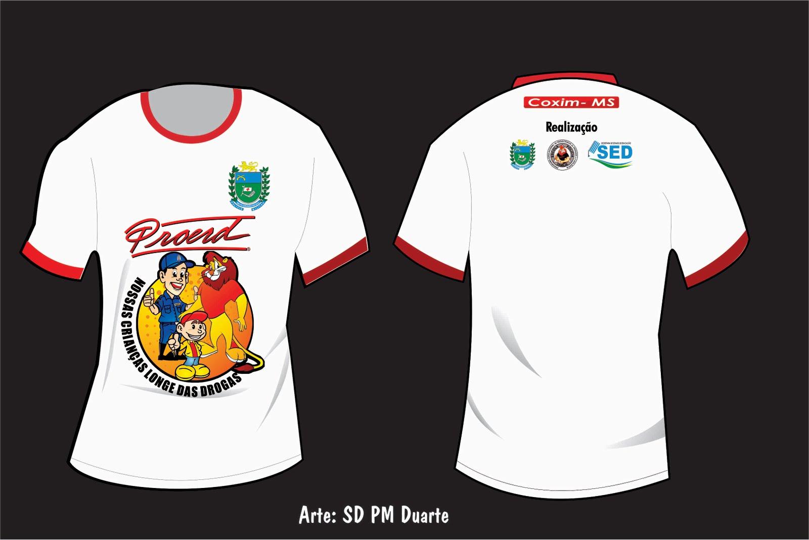 Camiseta Proerd 2011 Coxim