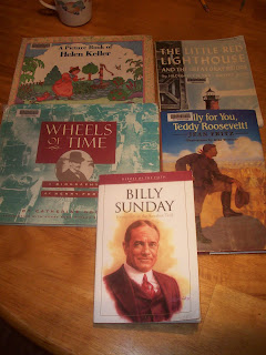 Some of the books we read this week about the 1900's