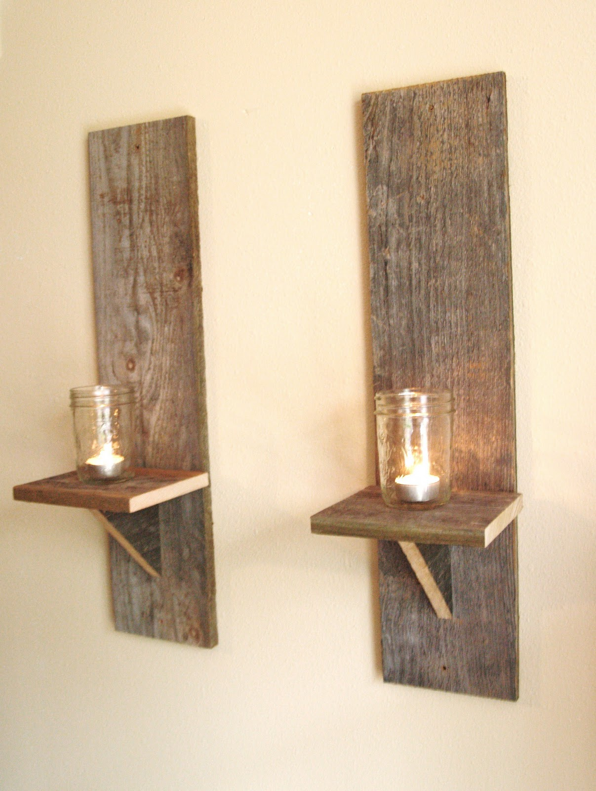 Antique Wood Wall Sconces : That s Purty: Vintage Inspired - Reclaimed Wood