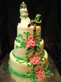 Wedding cake:Shrek s Fiona eskvi tortja :-)
