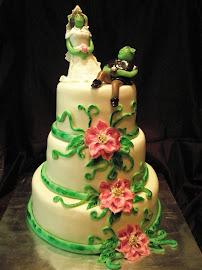 Wedding cake:Shrek és Fiona esküvői tortája :-)