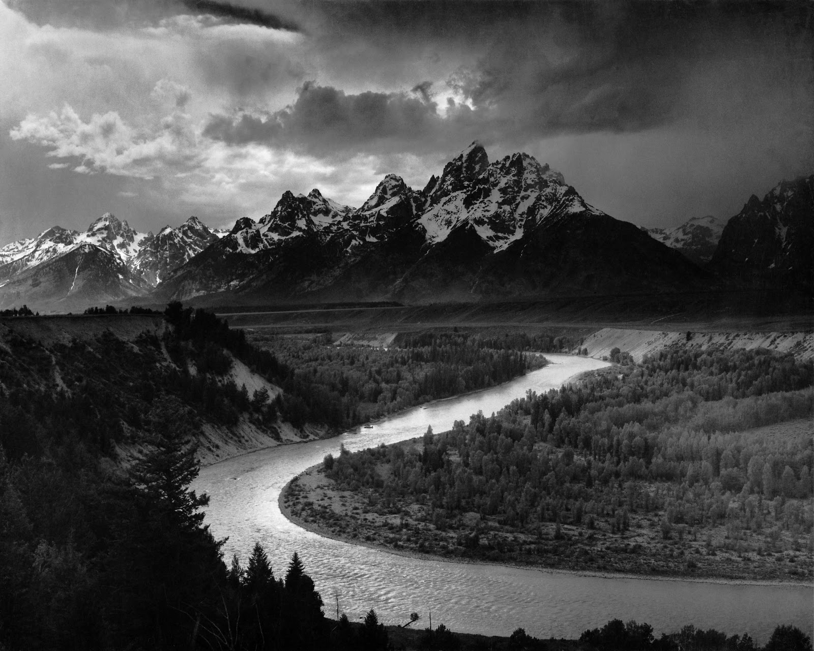 'The Tetons and the Snake River'. Ansel Adams