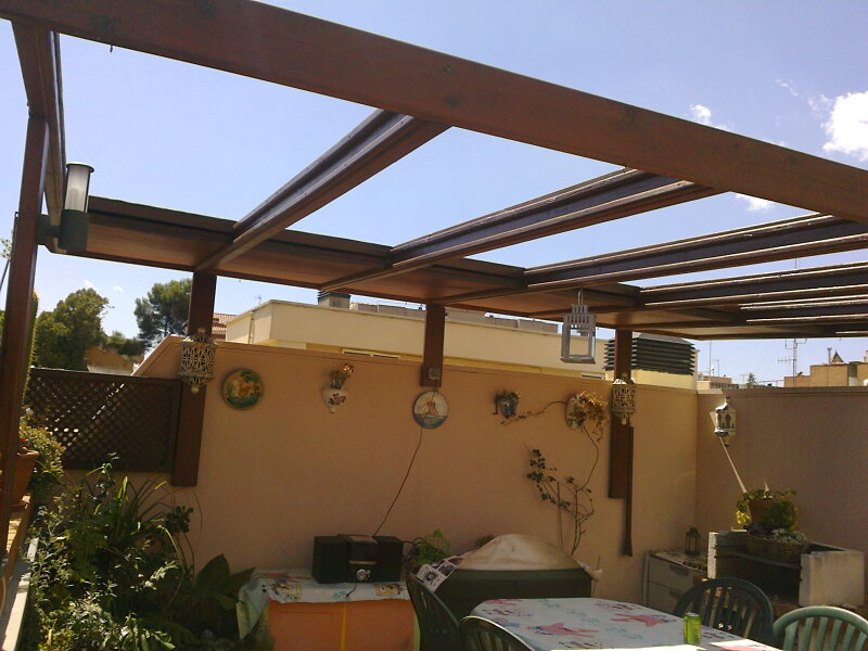 Ca uelo e hijos carpinteria s c p terraza y jardin - Aki madera tratada ...