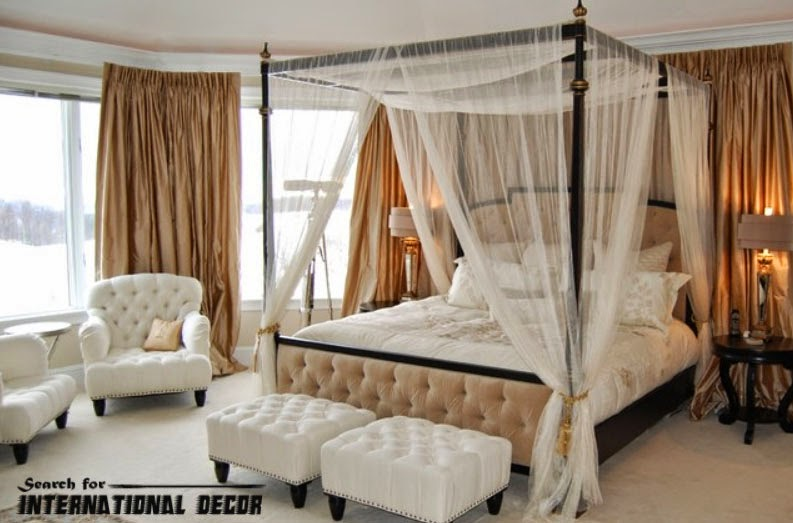 15 four poster bed and canopy for romantic bedroom for Bedroom designs with four poster beds
