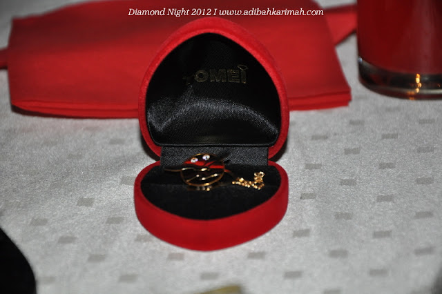 Diamond Night Dinner Award at MIECC for premium beautiful top agents with gold plated pin