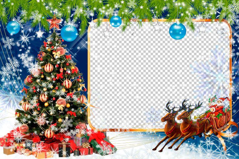 Fantástico Plantillas Gratuitas De Photoshop De Navidad Molde ...