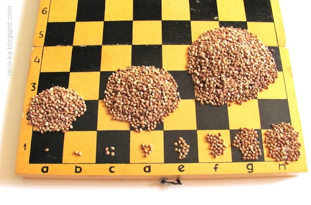 легенда о зернах на шахматной доске