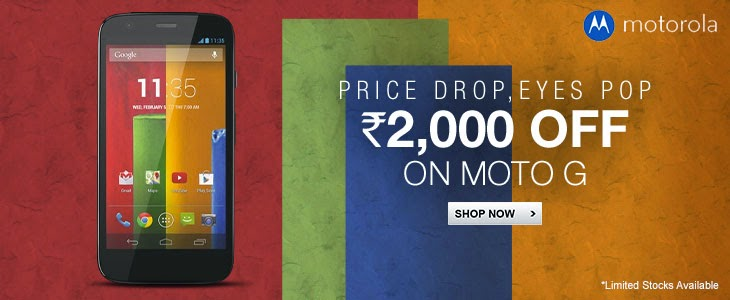 Moto G prices dropped by flipkart buy now