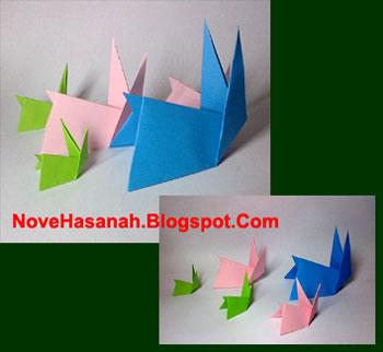 cara membuat origami yang mudah untuk anak TK, SD, dan pemula berbentuk kelinci