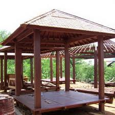 ... Bogor Bekasi Tangerang: Referensi gazebo Kayu kelapa papan kayu