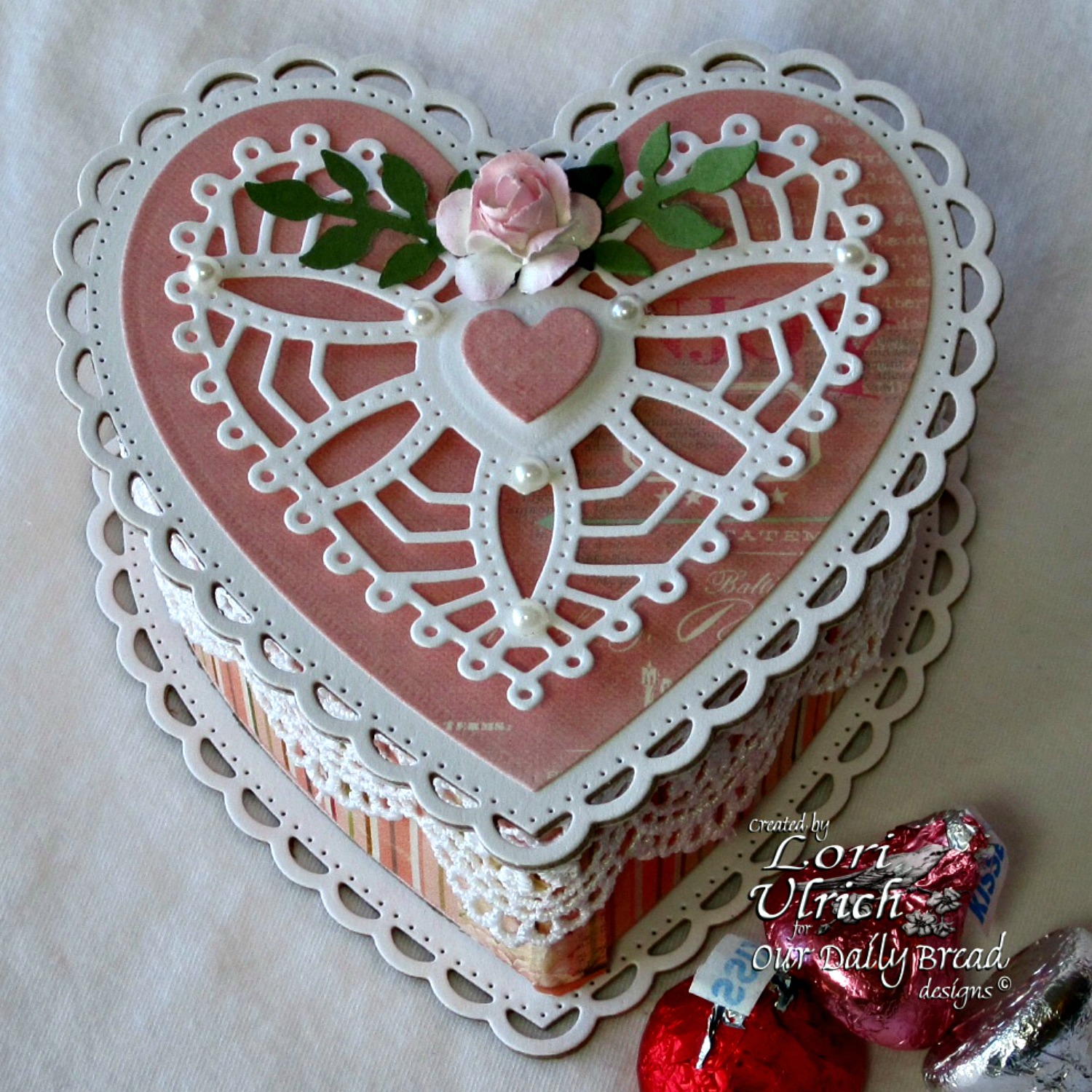 Our Daily Bread Designs Custom Ornate Hearts Die, ODBD Fancy Foliage Dies