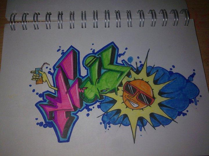 Mejores graffitis en papel imagui - Graffitis en papel ...