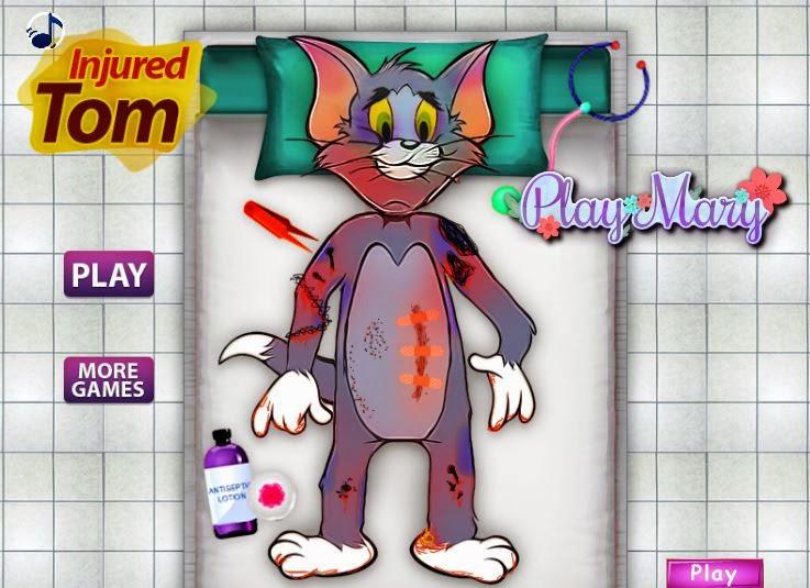 لعبة القط المصاب