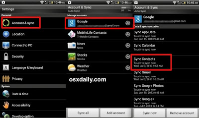 android contacts recovery and backup