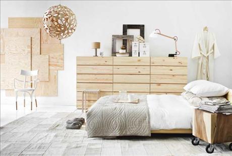 ... nu blank hout is bewijst deze slaapkamer uit een reportage uit 2009
