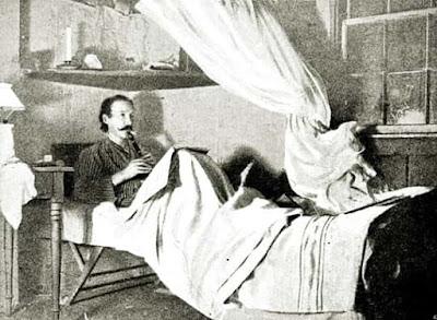 Robert Louis Stevenson paying his flageolet