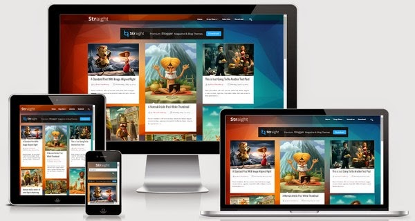 Straight Responsive Blogger Template Free Download