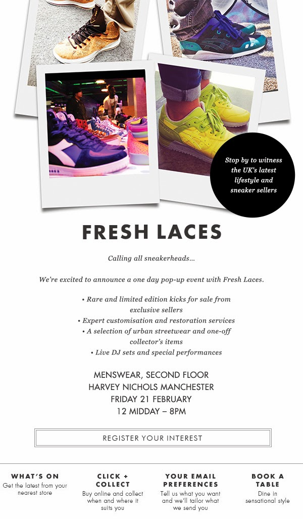 Fresh Laces, Elisha Francis, Harvey Nichols, Nathstar, Sneaker Event