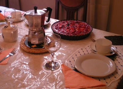 Tarta de frutillas y crema pastelera