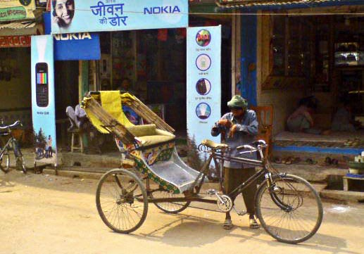 cycle rickshaw with driver