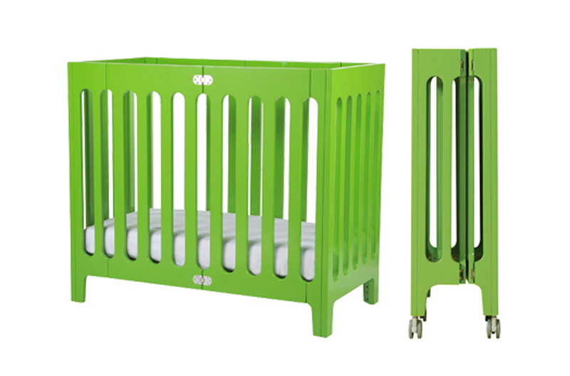 This Modern Small Baby Crib Has The Open Slats On All Four Sides Maximize Air Flow Is Available In Five Unique Colors