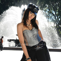 Trisha hot show in black dress
