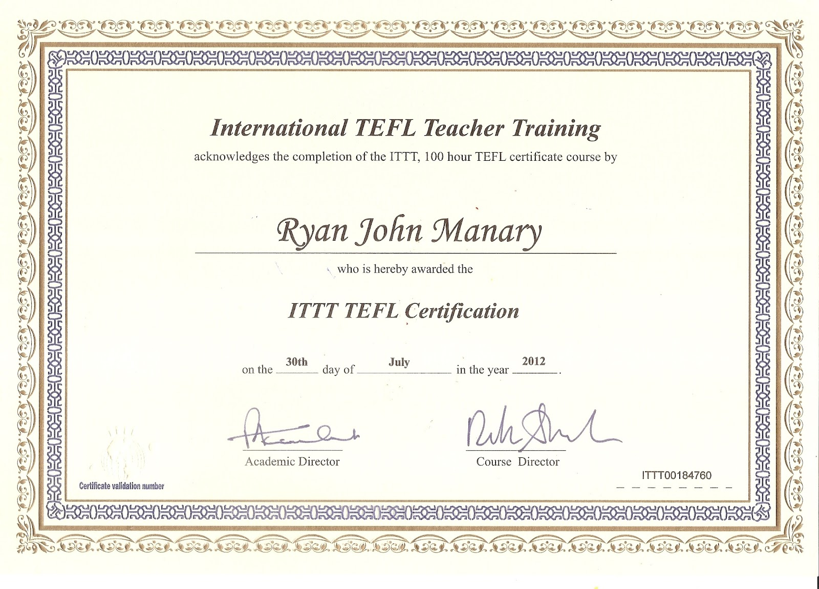 Tefl Certificate Template 28 Images Certificate Sles 120 Hour