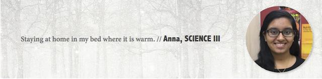 Anna, UAlberta - Winter