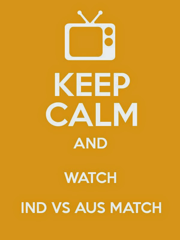 India vs Australia Keep Calm and watch Whatsapp profile pics semi final