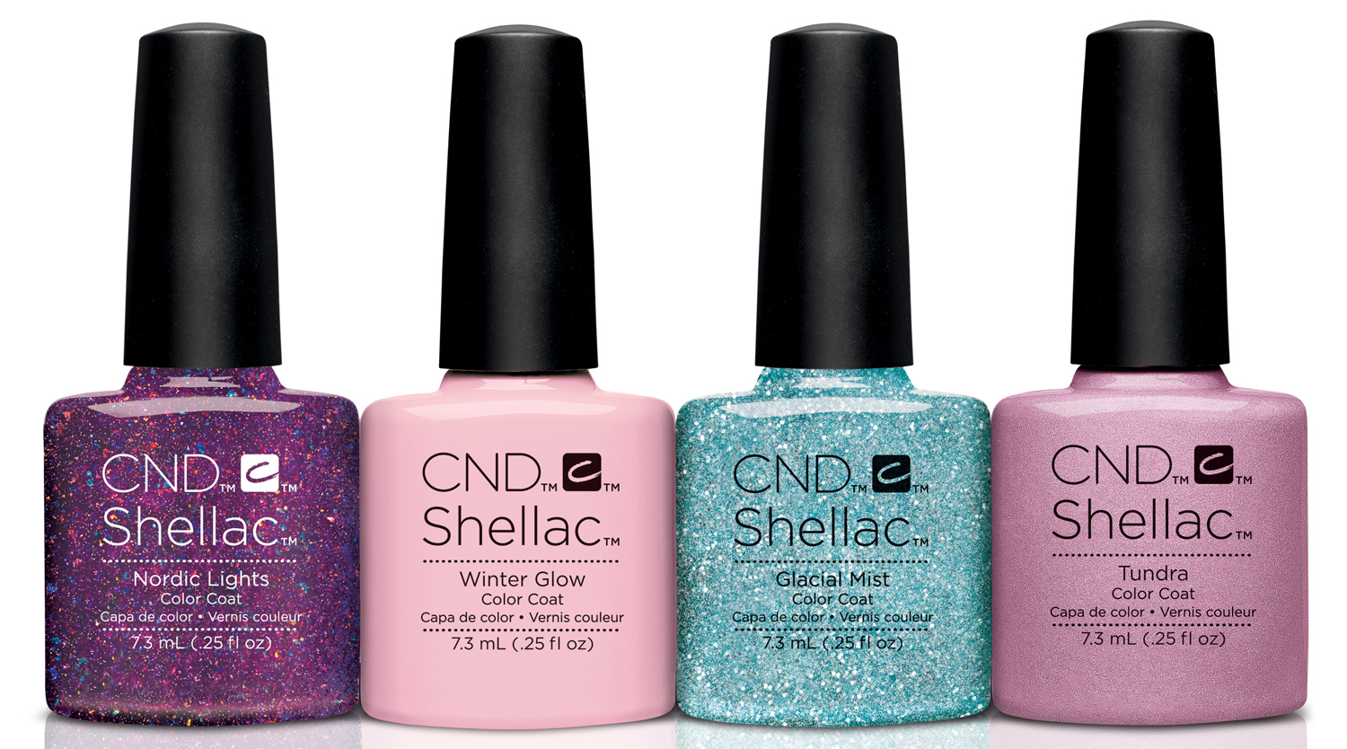 CND Shellac Aurora Collection via @chalkboardnails