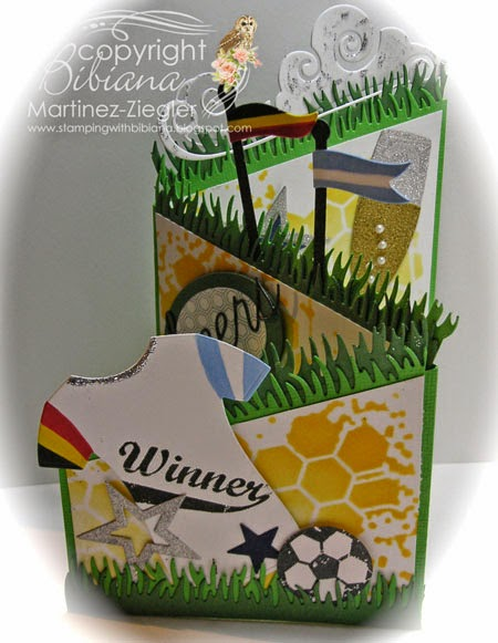 Soccer Z fold card