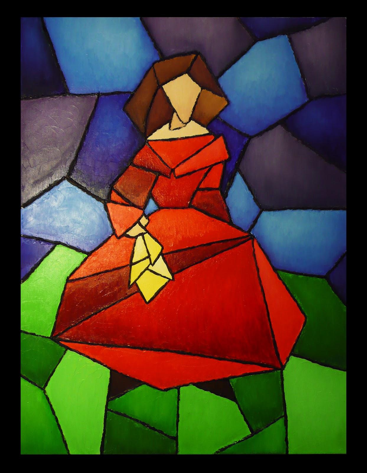 Yevestevez menina estilo vidriera - Como hacer una vidriera ...