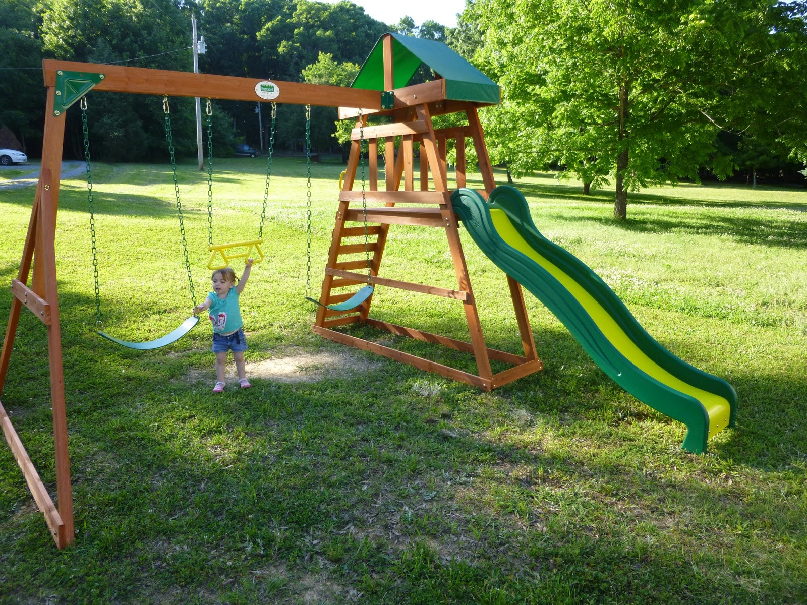 The waxhonian chronicles memorial day fun for Building a swing set from scratch