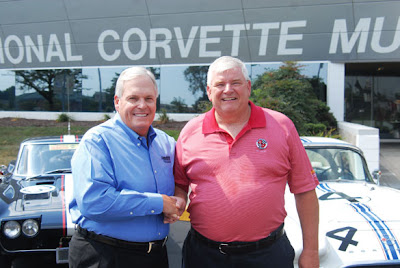 Rick Hendrick with Corvette Museum Director Wendell Strode