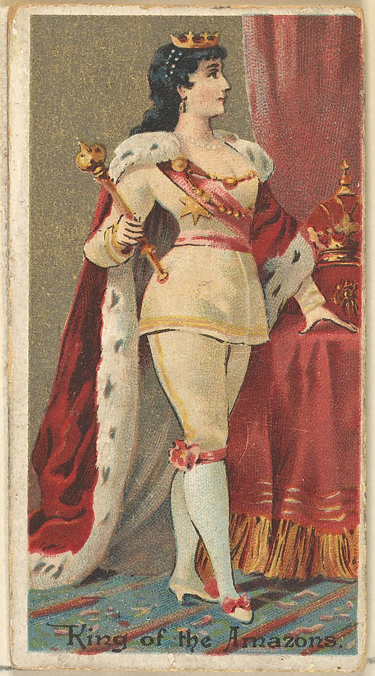 "King of the Amazons. Vintage tobacco card ""Occupations For Women"", via ellomennopee"