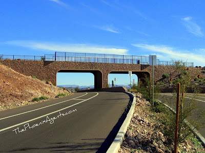Pedestrian bridge across 59th ave in Thunderbird Conservation Park